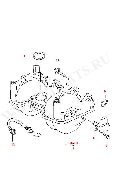 Впускной патрубок (Двигатель, Сцепление)