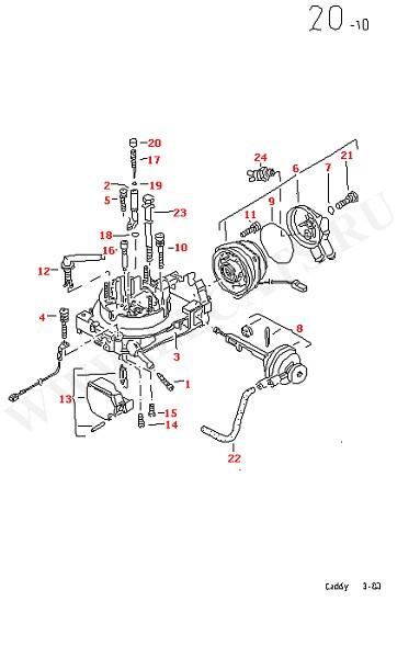 Версии карбюратора Карбюратор Корпус карбюратора, верхняя часть (Двигатель, Сцепление)