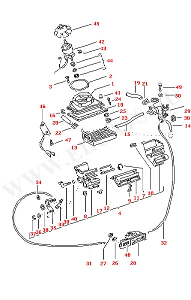 Бокс Регуляторы подачи холодного и горячего воздуха Радиатор печки (Кузов)