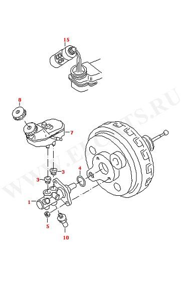 Главный тормозной цилиндр Расширительный бачок Тормозная жидкость (Колеса, Тормозная система)