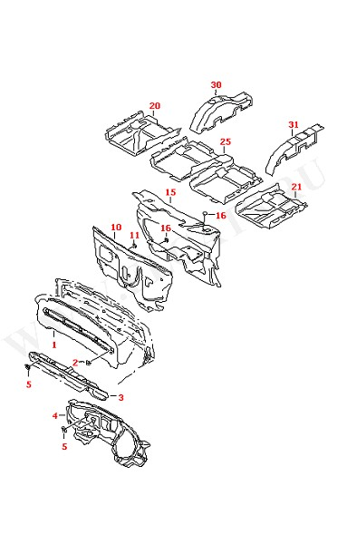 Амортизатор отсека двигателя Звукоизоляция панели (Кузов)