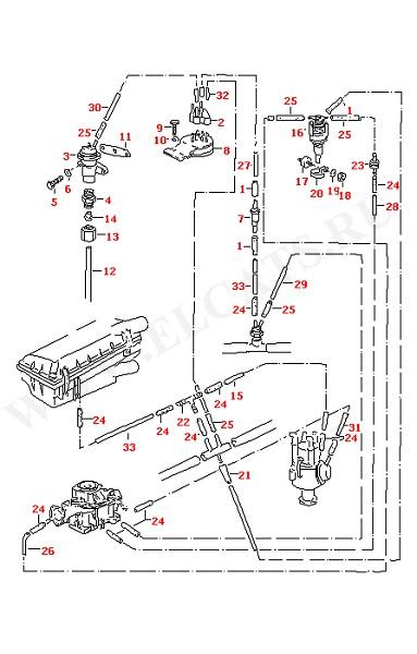 Вакуумная система Рециркуляция отработанных газов для моделей с карбюратором KEIHIN (Двигатель, Сцепление)