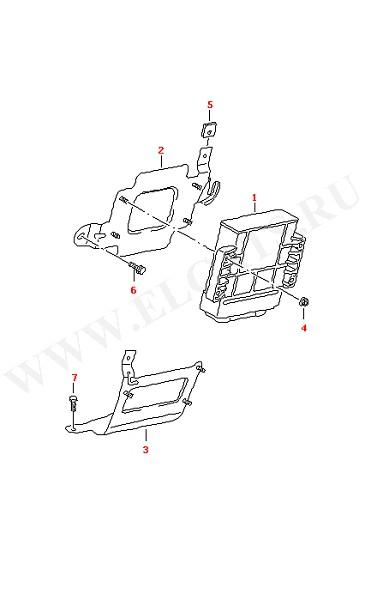 Блок управления АКПП-6 Детали крепления (Электрика)