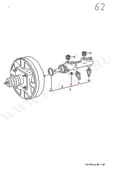 Версии главного цилиндра Главный тормозной цилиндр (Колеса, Тормозная система)