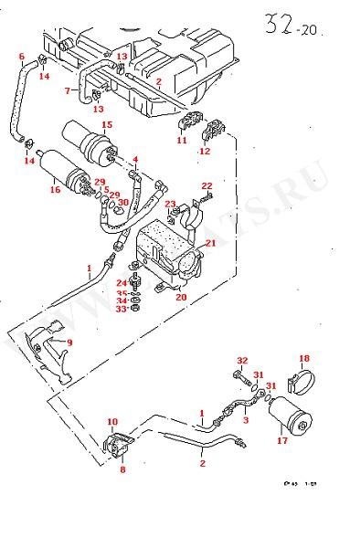 АКБ Топливный фильтр Топливный насос Топливопровод (Топливная система, Система выпуска ОГ, Отопитель)