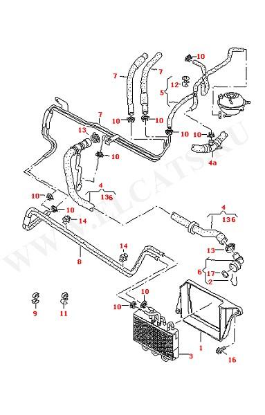 Водяное охлаждение Дополнительный радиатор для моделей, эксплуатируемых в странах с жарким климатом (Двигатель, Сцепление)