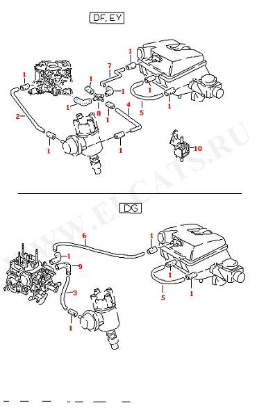 Вакуумная система (Двигатель, Сцепление)
