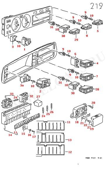 Выключатель габаритных фонарей, фар и аварийного светового сигнала, блок предохранителей/плата реле, реле (Электрика)