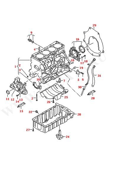 Блок цилиндров с поршнями Масляный поддон Вентиляция блока цилиндров (Двигатель, Сцепление)