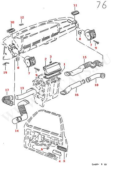 Воздушный шланг Воздуховод Обратная заслонка (Кузов)