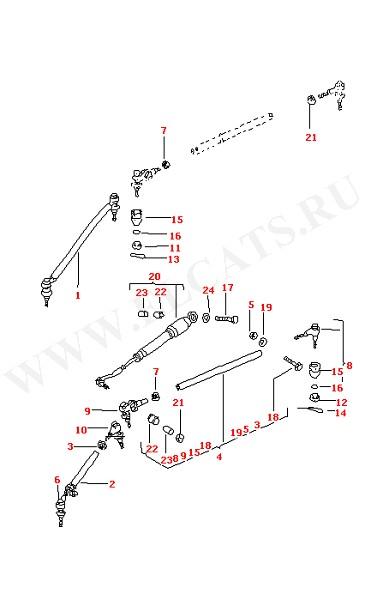 Амортизатор рулевого механизма Рулевая тяга (Передняя ось, Дифференциал, Рулевое управление)