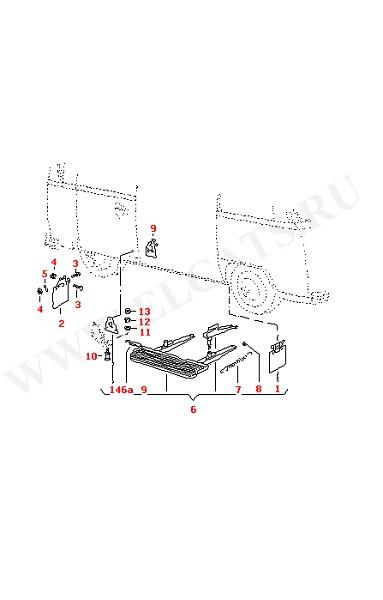 Брызговик Автоматическая подножка (Кузов)