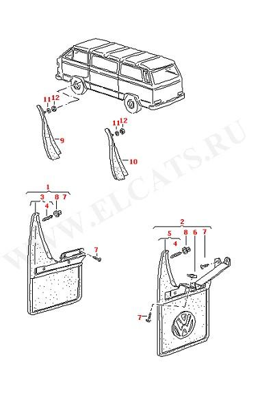 Брызговик Брызговик для моделей с размером шин: Брызговик не для: (Кузов)