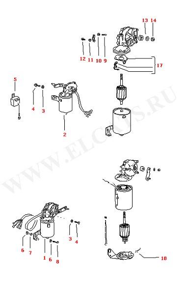 Версии моторчика стеклоочистителя Мотор стеклоочистителя (Электрика)
