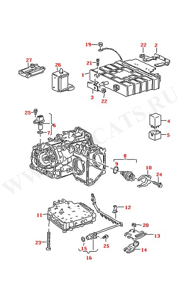 Блок управления АКПП Корпус клапана Выключатель (Электрика)
