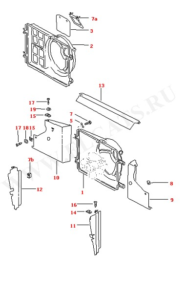 Воздушная направляющая (Двигатель, Сцепление)
