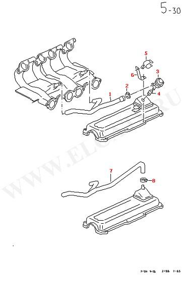Вентиляция для крышки блока цилиндров (Двигатель, Сцепление)