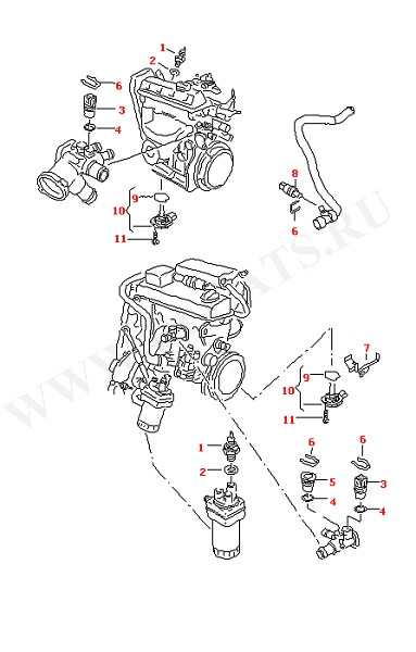 Выключатели и датчики на двигателе (Электрика)
