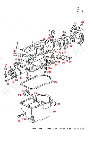 Блок цилиндров с поршнями Масляный поддон Детали крепления двигателя и трансмиссии (Двигатель, Сцепление)