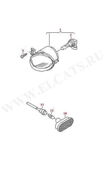 Галогеновая противотуманная фара Указатель поворота (Электрика)
