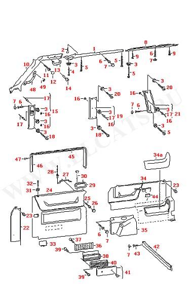 Боковые отделочные панели Отделка стойки кузова (Дополнительное оборудование)