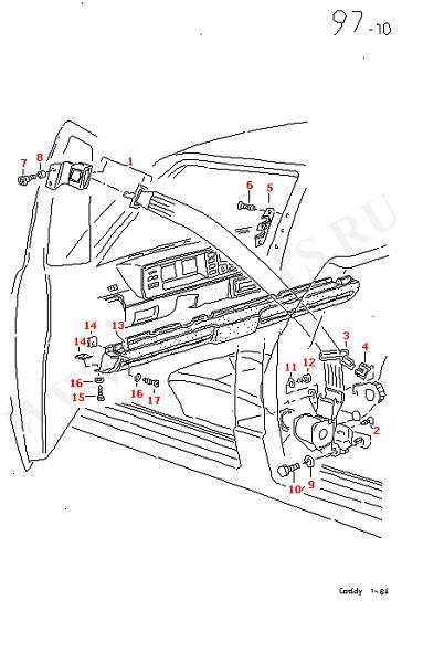 2-точечный ремень безопасности Упор для колен (Кузов)