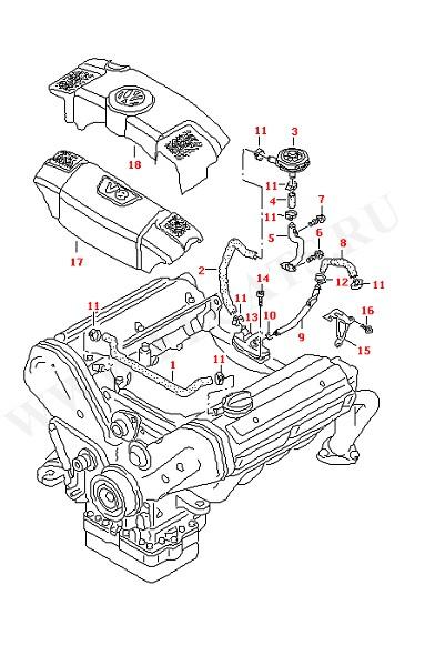 Вентиляция блока цилиндров (Двигатель, Сцепление)