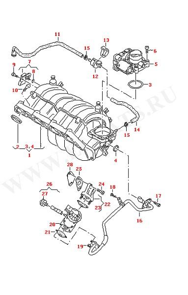 Впускная система (Двигатель, Сцепление)