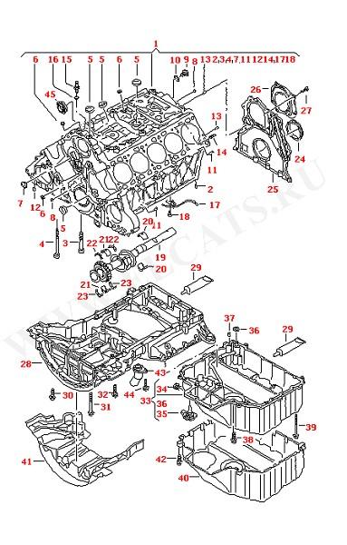 Блок цилиндров Уравновешивающий вал Масляный поддон (Двигатель, Сцепление)