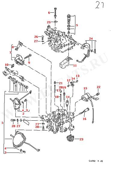 Версии карбюратора Карбюратор KEIHIN (Двигатель, Сцепление)