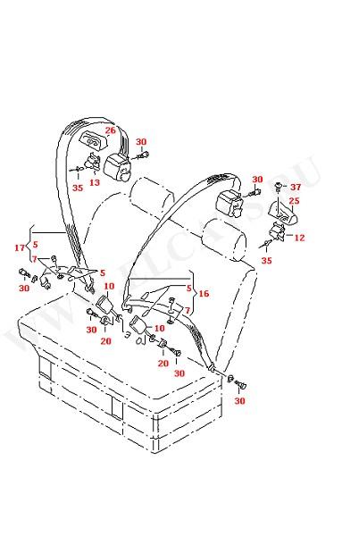 3-точечный ремень безопасности в салоне (Кузов)