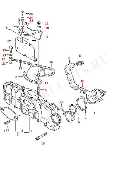 Впускной патрубок Регулятор давления (Двигатель, Сцепление)