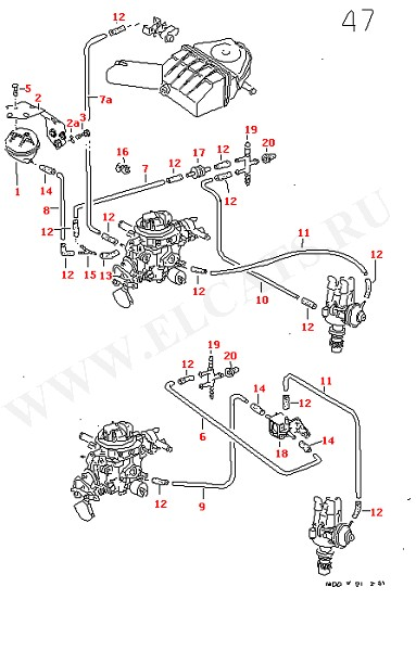 Вакуумная система для МКПП для АКПП (Двигатель, Сцепление)