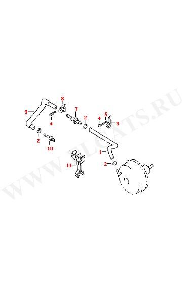 Вакуумные шланги для сервотормоза (Колеса, Тормозная система)