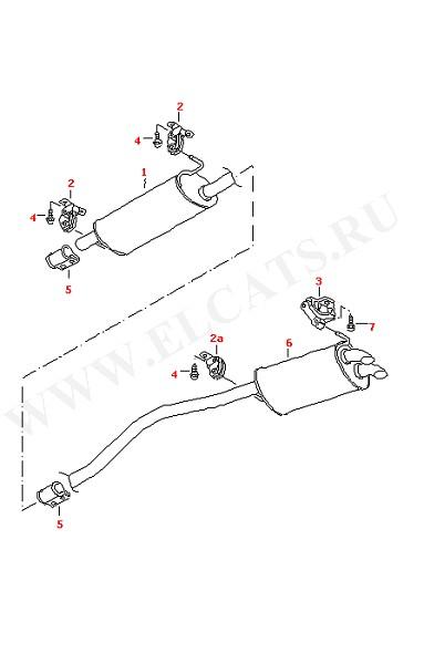 Глушитель, передняя часть Глушитель, задняя часть (Топливная система, Система выпуска ОГ, Отопитель)